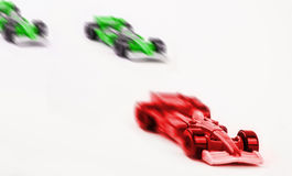 Winning car. Winning  toy car isolated Royalty Free Stock Photos
