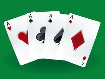 Winning cards Royalty Free Stock Image
