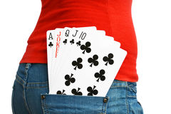 5 winning cards Stock Photography