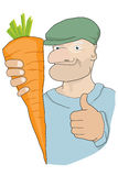 Winning carrot Stock Photo