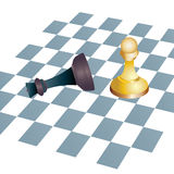 Winning Chess concept business metaphors Royalty Free Stock Photography