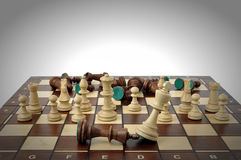 Winning chess game Royalty Free Stock Photography