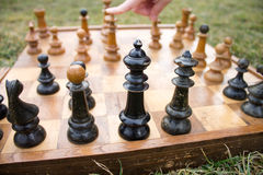The winning chess move Royalty Free Stock Images