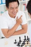 Winning chess play Stock Photography