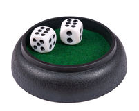 Winning combination of dice - isolated Royalty Free Stock Image