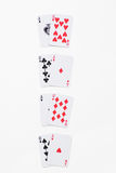 Winning Combinations. In Blackjack, isolated on white Stock Photo