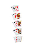 Winning Combinations in Blackjack Royalty Free Stock Photos