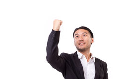 Winning, confident, successful businessman Royalty Free Stock Images