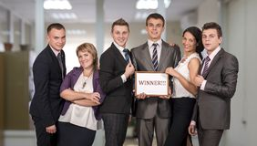Winning corporate business team Royalty Free Stock Images