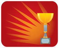 Winning cup Royalty Free Stock Image