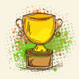 Winning cup for Cricket. Stock Photos