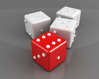 Winning dice concept Stock Images