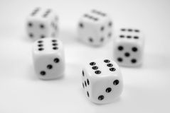 Winning dice group Stock Photography