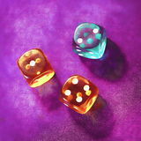 Winning dices Stock Images