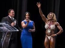 Winning Female Bodybuilder Royalty Free Stock Photography