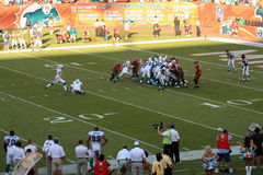 Winning Field Goal Stock Photo