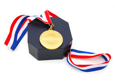 A winning first place with bronze medal Royalty Free Stock Image