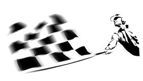 Winning flag. An illustration of chequered winning flag Stock Images