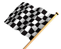 The winning flag Stock Image