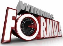 Winning Formula 3d Words Speedometer Best Strategy stock illustration