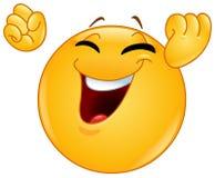Winning gesture emoticon Royalty Free Stock Image