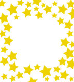 Winning Gold Star Border. Gold stars making a border on a white background, winning gold star border Stock Images