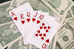 Winning Hand. Gets money Stock Photo