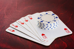 Winning hand. Winning poker hand Stock Photography