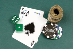Winning hand all in Stock Images