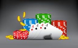 Winning Hand of Casino Stock Photo