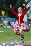Winning Highland Fling Dancer. Winners at the Balmoral Highland Games stock photos