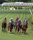 Winning His First Race Royalty Free Stock Photo