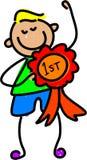 Winning kid Stock Image