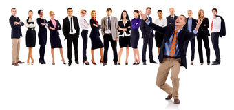 Winning leader and the team Royalty Free Stock Photography