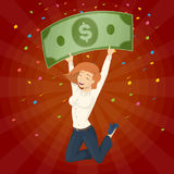 Winning the lottery. stock illustration