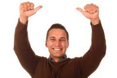 Winning Man Stock Photo