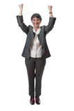 Winning mature businesswoman Royalty Free Stock Photo
