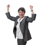 Winning mature businesswoman Stock Images