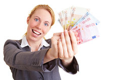 Winning money Royalty Free Stock Photography