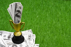 Winning the money game Royalty Free Stock Image