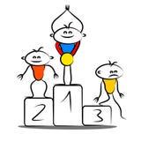 Winning podium Royalty Free Stock Images