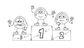 Winning podium Royalty Free Stock Image