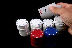 Winning poker royalty free stock photos