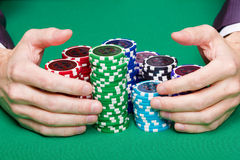 Winning poker Royalty Free Stock Photos