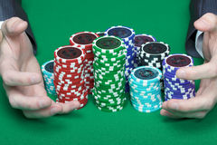 Winning poker Stock Images
