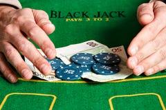 Winning poker game. Royalty Free Stock Photo
