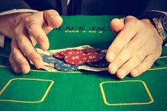 Winning poker game. Royalty Free Stock Photos
