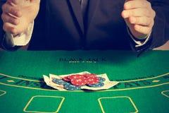 Winning poker game. Royalty Free Stock Photography