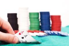 Winning poker hand Stock Photography