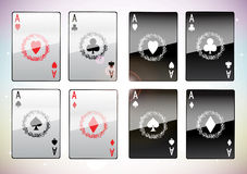 A winning poker hand of four aces Stock Photography